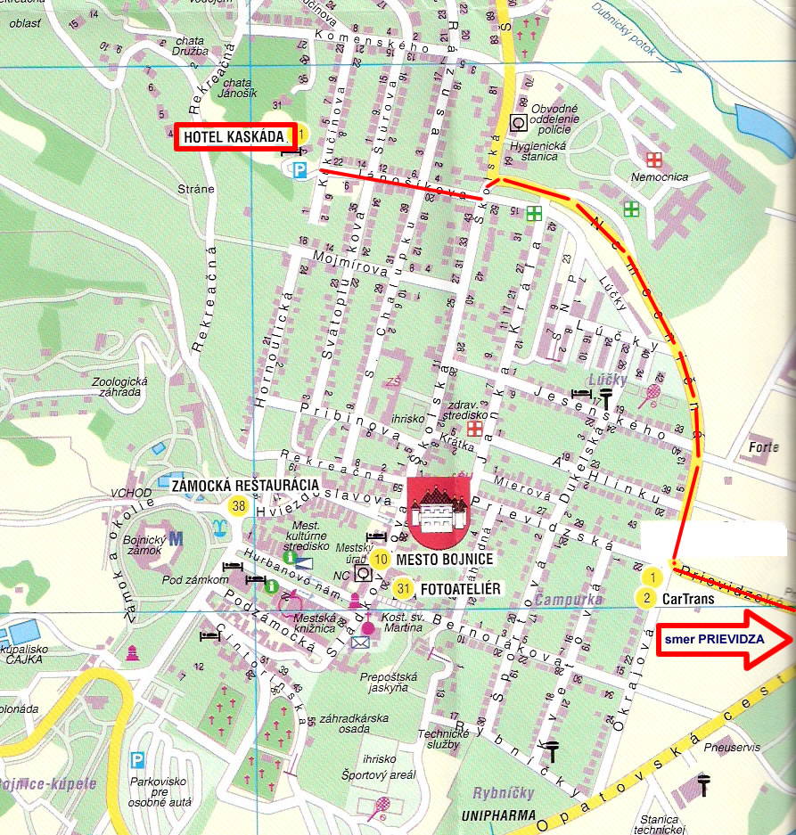Mapa Kaskáda